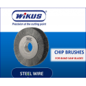 STEEL WIRE CHIP REMOVAL BRUSHES - 100mm OD, 12.5mm ID, 25mm TH